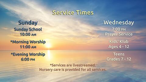 M Summer Worship Times