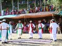 Hunza boys performing Api Cso Nut in Karimabad Hunza