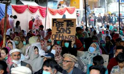 Hunza sit-in on Karakoram Highway for release of Baba Jan