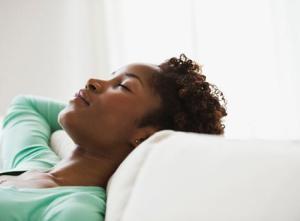 Sleeping black woman