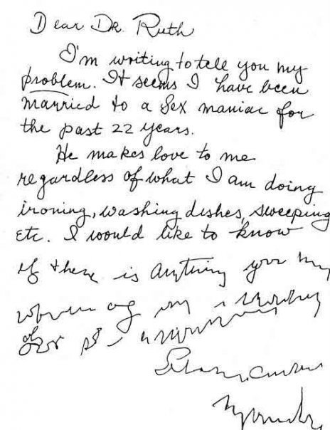 Letter to Dr Ruth