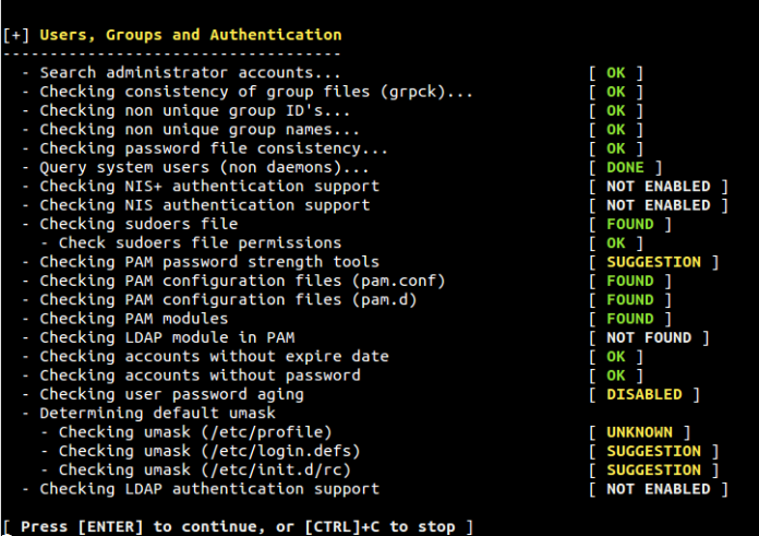 Lynis - Open source security auditing tool