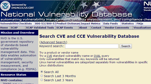 Sources to trace New Vulnerabilities