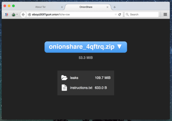 TOR  - client1 - Share Files Anonymously using TOR and OnionShare Anonymous