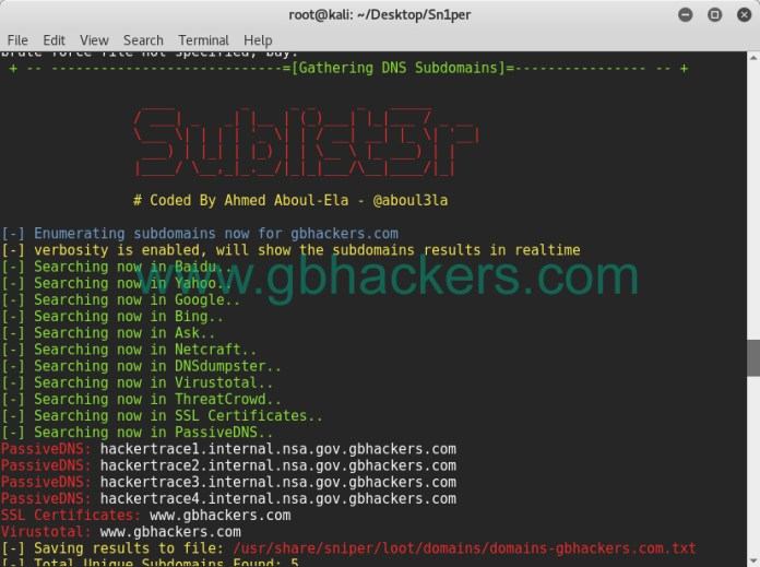 - sniper13 - Automated Information Gathering & Penetration Testing Tool
