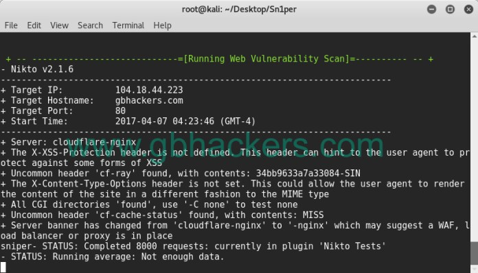 - sniper17 - Automated Information Gathering & Penetration Testing Tool