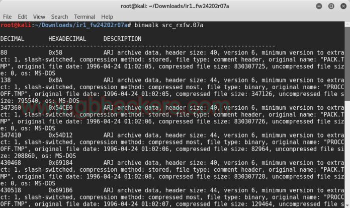 Analyzing embedded files and executable code with Frimware Images  - binwalk1 - Analyzing Embedded Files and Executable Code with Firmware