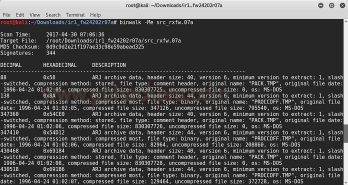 Analyzing embedded files and executable code with Frimware Images  - binwalk3 - Analyzing Embedded Files and Executable Code with Firmware