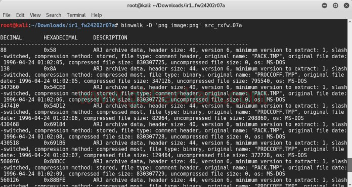 Analyzing embedded files and executable code with Frimware Images  - binwalk5 - Analyzing Embedded Files and Executable Code with Firmware
