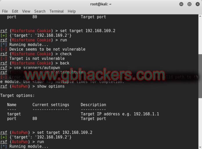 Exploitation Framework for Embedded devices - RouterSploit