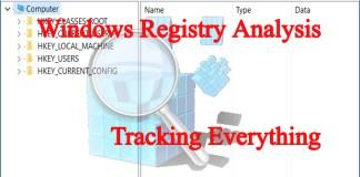 Windows Registry Analysis-Tracking Every activity