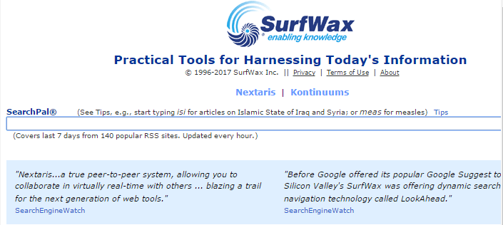 SurfWax Search Is Available As A Free And A Subscription Based Service. The Search  Site Is Bundled With A Number Of Features Other Than Plain Search.