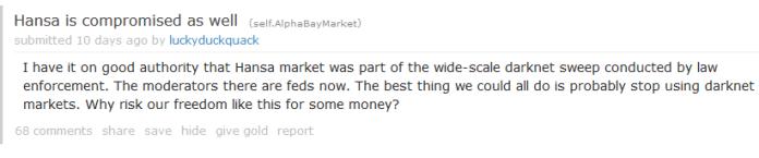 Dark Web Users Fear that Dream Market also seized