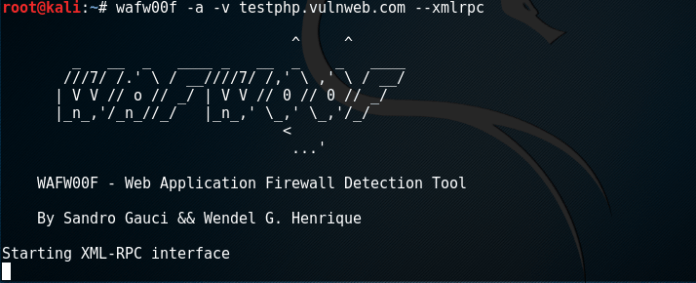 - wf3 - Web Application Firewall detection using Kali Linux- WAFW00F
