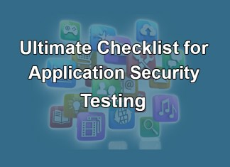 An Ultimate Checklist for Application Security Testing