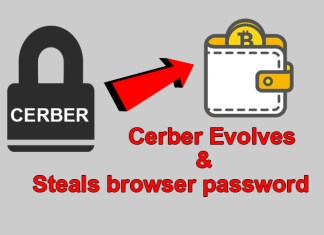 Cerber Ransomware Comes again to Steal browser Passwords
