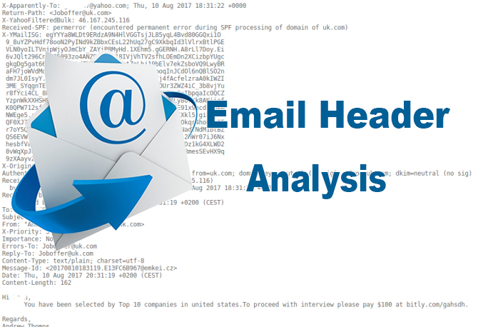 how to get email header