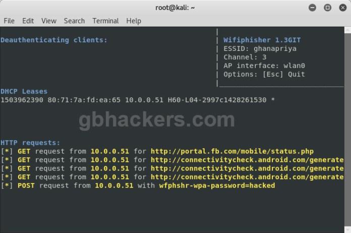 Kali Linux Tutorial  - WiFi5 - Kali Linux Tutorial – Wifiphisher to Crack WPA/WPA2 WiFi Passwords