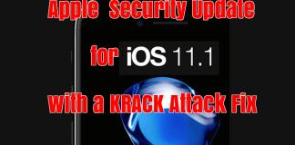 Security Update iOS 11.1