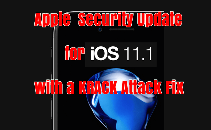 Security Update iOS 11.1