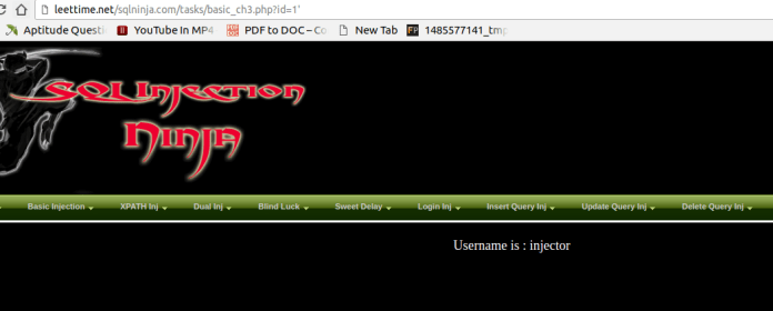 - sql - Manual SQL Injection With Double quotes Error Based String Method