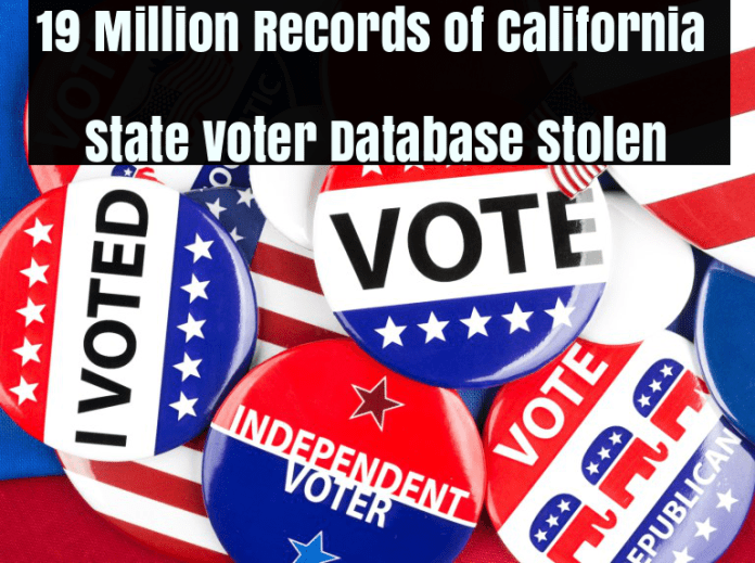 Voter Database  - evzKK1513458228 - 19 Million Records of California State Voter Database steal by Hackers