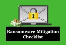 Ransomware Checklist
