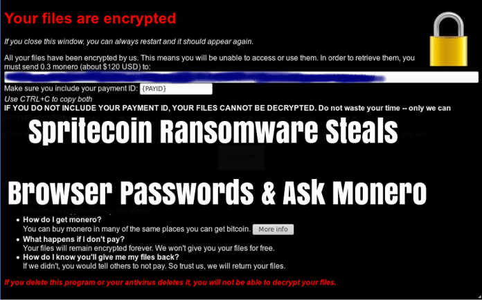 Spritecoin Ransomware