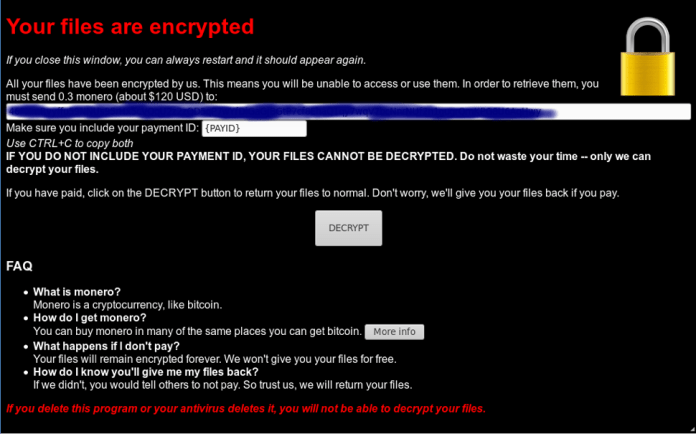 - tony4 - Spritecoin Ransomware Steals Passwords & Asks Monero to Decrypt Files