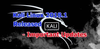 Kali Linux 2018.1