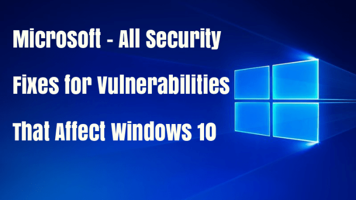Microsoft Released security Patch  - Nzx7p1518628494 - Microsoft Released Security Patch for Windows 10 Vulnerabilities