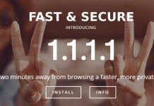 DNS service 1.1.1.1