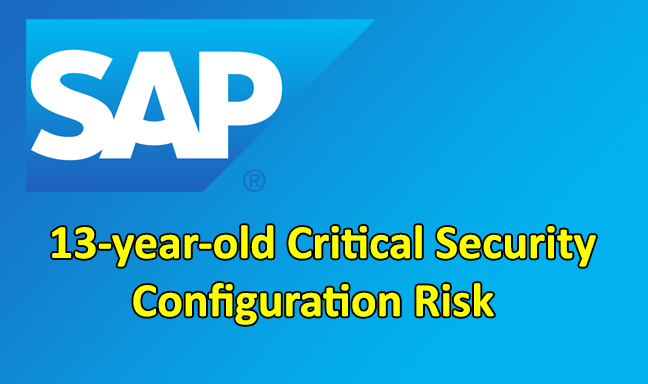 SAP Netweaver  - SAP Netweaver - 90% of SAP Netweaver Systems Vulnerable to 13-year-old Critical risk