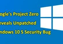Windows 10 S Security bug