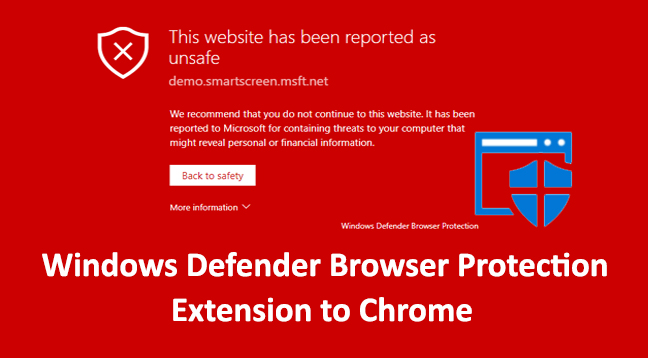 Windows Defender Browser Protection Extension  - Windows Defender Browser Protection Extension - Windows Defender Browser Protection Extension Ported to Chrome