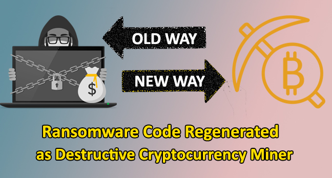 Cryptocurrency mining attacks  - XiaoBa ransomware - Ransomware Code Regenerated for Cryptocurrency Mining Attacks