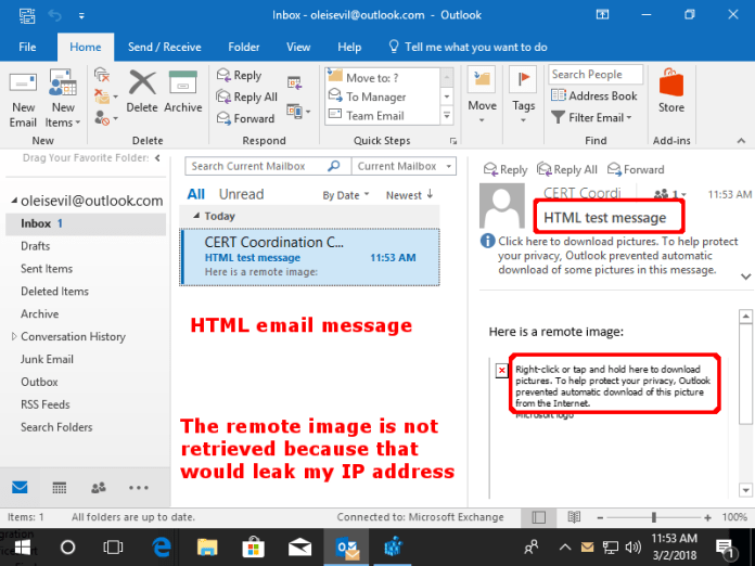 - html message annotated - Hackers Can Steal Password Hash with Microsoft Outlook and OLE