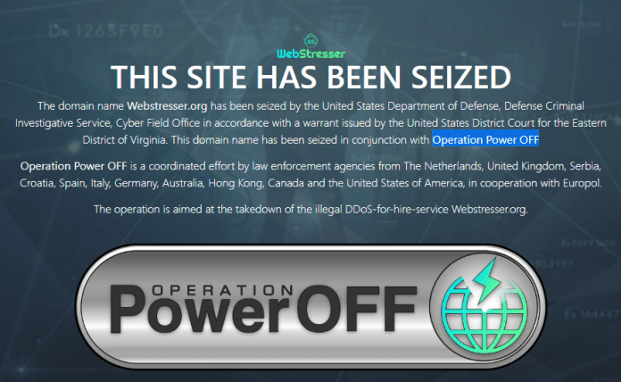 - power - Operation Power OFF – DDoS Attack Selling Market Place Taken Down