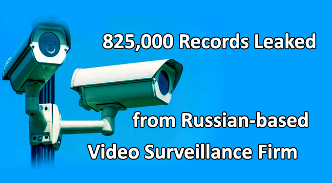 825,000 Records Leaked from Russian-based Video Surveillance Firm