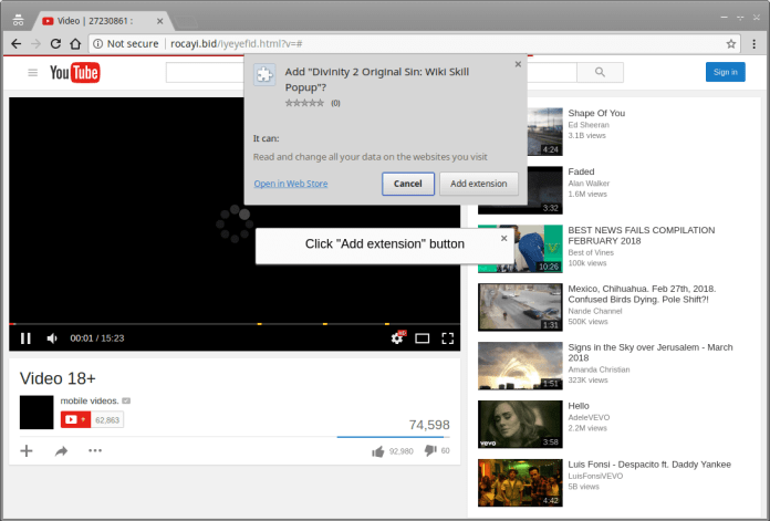 malware campaign  - fake youtube page - 100,000 Users infected With the Password Stealing Malware Campaign