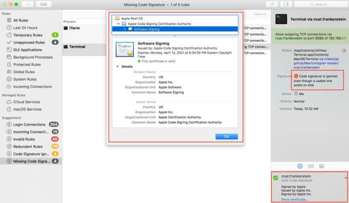 macOS Signature Validation Flaw