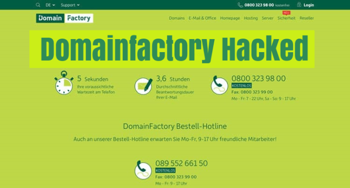 Domainfactory  - 7ppVq1531165434 - Web Hosting Company Domainfactory Hacked