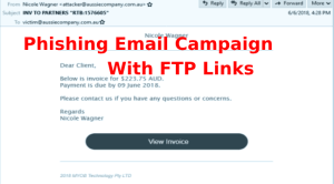 Phishing Email Campaign