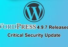 Wordpress Update 4.9.7