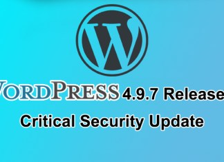 Wordpress Update 4.9.7
