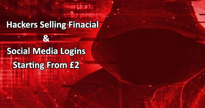 - Dark web Markets - Dark Web markets Selling Social Media Logins & Financial Details