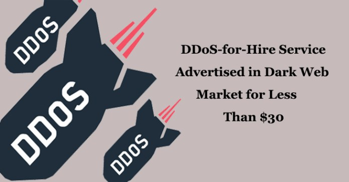 DDoS-for-Hire  - DDoS for Hire1 - Hackers Offering DDoS-for-Hire Service in Dark Web Markets