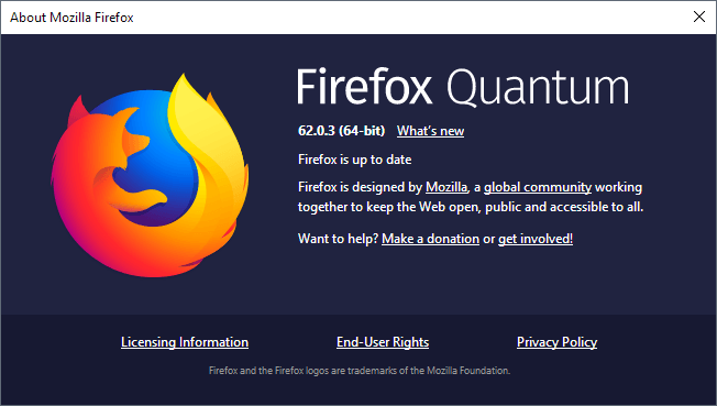 Firefox 62.0.3  - firefox 62 - Mozilla Firefox 62.0.3 & Security Updates for 2 High Critical Vulnerabilities