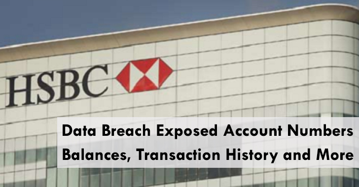 HSBC Bank Data Breach Exposed Account numbers, Balances and More